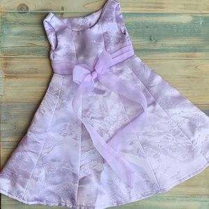 "18"" Doll Fancy Dress Gown Lavender Ribbon Bow"